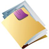 Yellow folder. Office tool for keeping papers regularly Royalty Free Stock Photos