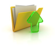 Yellow folder Stock Image