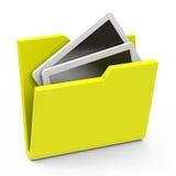 The yellow folder Stock Image