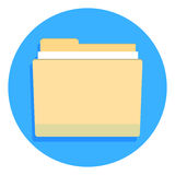 Yellow folder for documents Royalty Free Stock Images