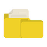 Yellow folder file document report paper. Illustration eps 10 Stock Image