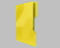 Yellow folder in glassy coating isolated Royalty Free Stock Photography