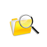 Yellow folder icon Royalty Free Stock Photography