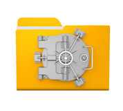 Yellow Folder Vault Royalty Free Stock Images