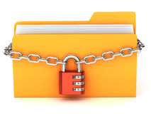 Yellow folder Stock Photo