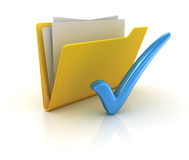 Yellow folder voting Royalty Free Stock Photos
