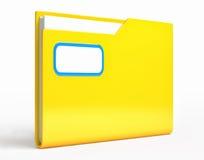 Yellow folder.   on white background Royalty Free Stock Photos
