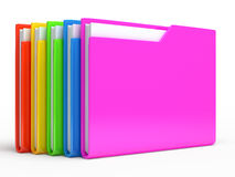 Yellow folder.   on white background Royalty Free Stock Image