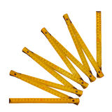 Yellow folding meter Stock Images