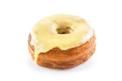 Yellow fondant croissant and donut mixture Stock Photos