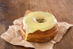 Yellow fondant croissant and donut mixture Stock Photography