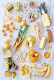Yellow food group royalty free stock image