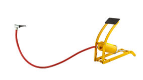 Yellow foot air pump Stock Photos