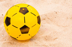Yellow football. Stock Image
