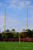 Yellow Football Goalpost Royalty Free Stock Image