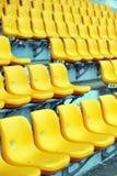 Yellow football seats Stock Image