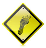 Yellow footprint sign Royalty Free Stock Photography