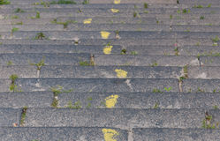Yellow footprints on the stairs Stock Images