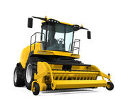 Yellow Forage Harvester. Isolated on white background. 3D render Stock Photo