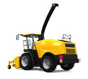 Yellow Forage Harvester Royalty Free Stock Images