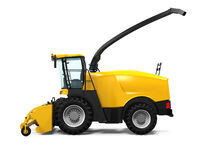 Yellow Forage Harvester Stock Images