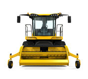 Yellow Forage Harvester Royalty Free Stock Photography