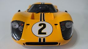 Yellow Ford Gt40 racing car Royalty Free Stock Images