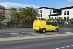 Yellow Ford Transit van Stock Photos