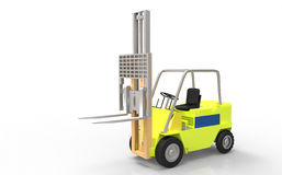 Yellow Fork Lift Royalty Free Stock Photography