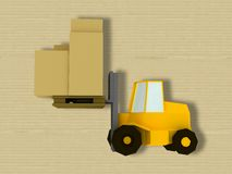 Yellow fork lift truck Stock Photo