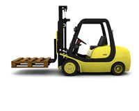 Yellow Fork Lift Truck Isolated on White Stock Photography