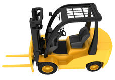 Yellow forklift truck isolated on white background Stock Images