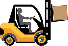 Yellow forklift vector eps Stock Photo
