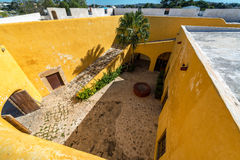 Yellow Fort in Campeche Royalty Free Stock Images