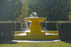 Yellow fountain Stock Photos