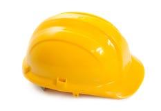 yellow för hård hatt för konstruktion Arkivbilder