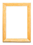 Yellow frame. Yellow wood frame isolated on white Stock Photos
