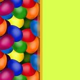 Yellow frame of easter eggs. Yellow frame square shape of easter eggs Stock Illustration