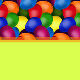 Yellow frame of easter eggs. Yellow frame square shape of easter eggs vector illustration