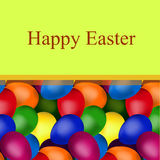 Yellow frame of easter eggs. Yellow frame square shape of easter eggs with the text royalty free illustration