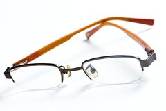 Yellow frame eyeglasses Stock Image
