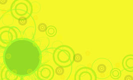 Yellow frame with green circle. Computer generated illustration of yellow frame with green circles Stock Photo