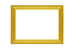 Yellow frame, isolated on the white Stock Photography