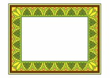 Yellow frame. Vector illustration of a fantasy frame, EPS 10 file Royalty Free Stock Images