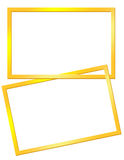 Yellow frames Royalty Free Stock Images