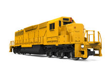 Yellow Freight Train. Isolated on white background. 3D render royalty free illustration
