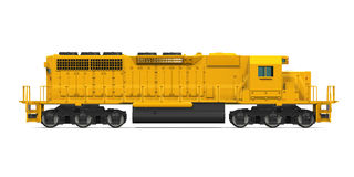 Yellow Freight Train Stock Photo