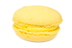 Yellow French Macaroon Stock Photography