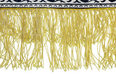 Yellow fringe Stock Photo