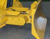 Yellow excavator bucket. Yellow front bucket of heavy crawler excavator royalty free stock photography
